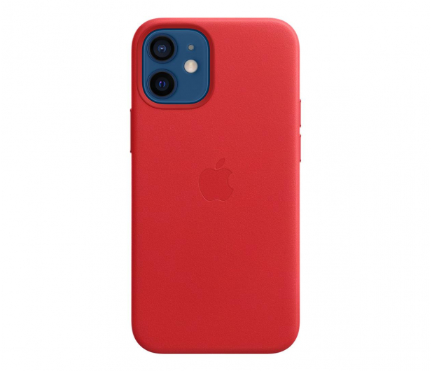 Apple Skórzane etui iPhone 12 mini (PRODUCT)RED - 604807 - zdjęcie