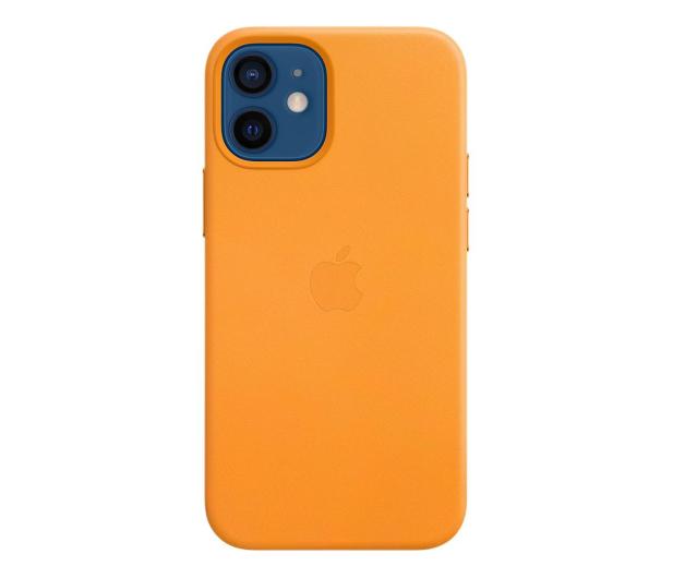 Apple Skórzane etui iPhone 12 mini kalifornijski mak - 604811 - zdjęcie