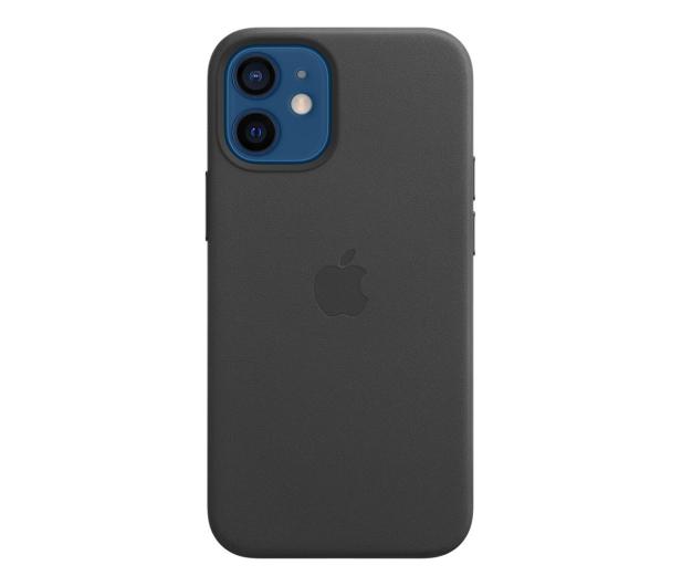 Apple Skórzane etui iPhone 12 mini czarne - 604809 - zdjęcie