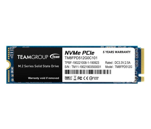 Team Group 512GB M.2 PCIe NVMe MP33 - 613766 - zdjęcie