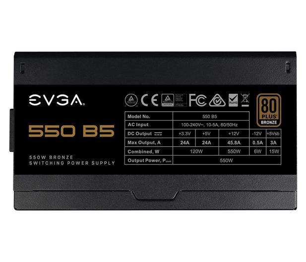 EVGA B5 550W 80 Plus Bronze - 614475 - zdjęcie 3