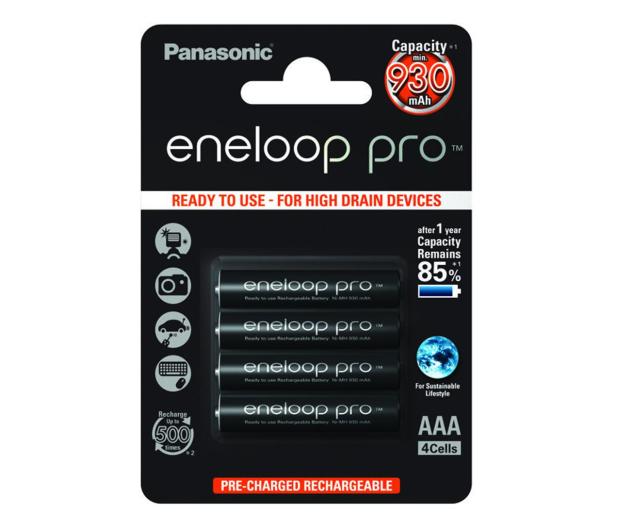 Panasonic Eneloop Pro R03/AAA 930 mAh (4 sztuki) - 293330 - zdjęcie