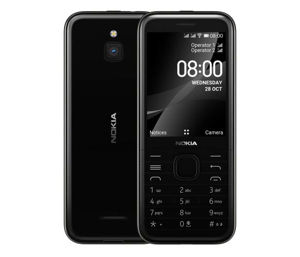 Nokia 8000 4G Dual SIM czarny - 612108 - zdjęcie