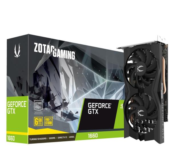 Zotac GeForce GTX 1660 Gaming Twin Fan 6GB GDDR5 - 543840 - zdjęcie