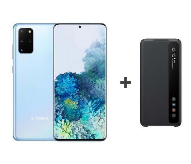Samsung Galaxy S20+ G985F Dual SIM Blue + Clear View Cover - 544329 - zdjęcie
