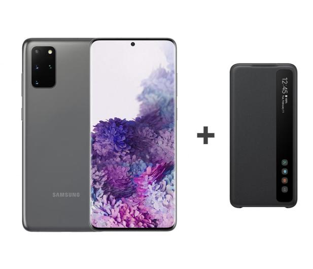 Samsung Galaxy S20+ G985F Dual SIM Grey + Clear View Cover - 544332 - zdjęcie