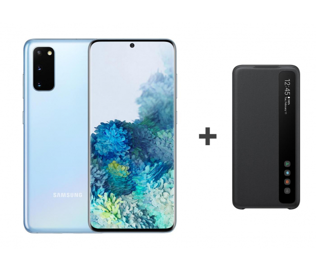 Samsung Galaxy S20 G980F Dual SIM Blue + Clear View Cover - 544321 - zdjęcie