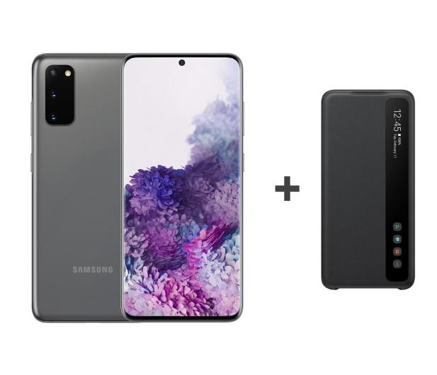 Samsung Galaxy S20 G980F Dual SIM Grey + Clear View Cover - 544322 - zdjęcie