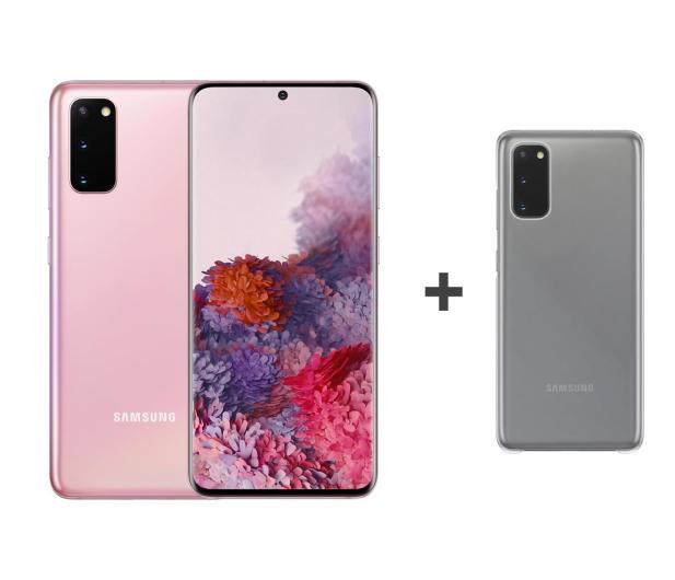 Samsung Galaxy S20 G980F Dual SIM Pink + Clear Cover - 544326 - zdjęcie