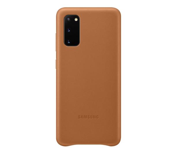 Samsung Leather Cover do Galaxy S20 Brown  - 544140 - zdjęcie