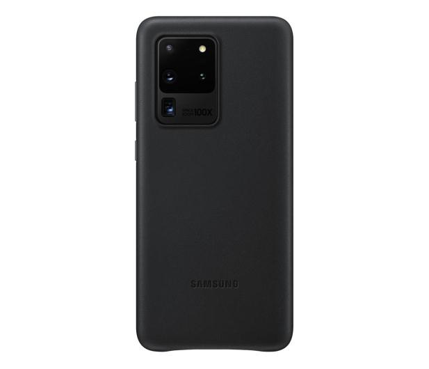 Samsung Leather Cover do Galaxy S20 Ultra Black  - 544189 - zdjęcie