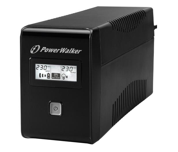 Power Walker LINE-INTERACTIVE (850VA/480W, 2x Schuko, LCD, AVR) - 544098 - zdjęcie