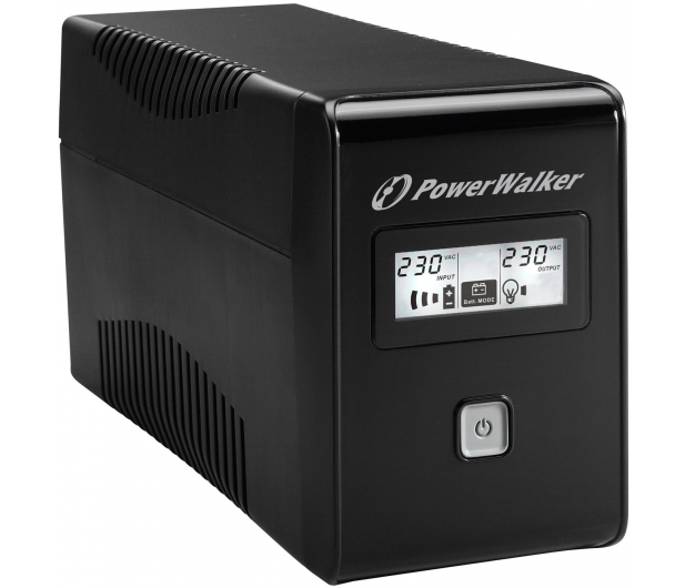 Power Walker LINE-INTERACTIVE (850VA/480W, 2x Schuko, LCD, AVR) - 544098 - zdjęcie 3