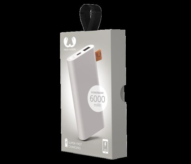 Fresh N Rebel Power Bank 6000 mAh (USB-C, Ice Grey) - 545689 - zdjęcie 2