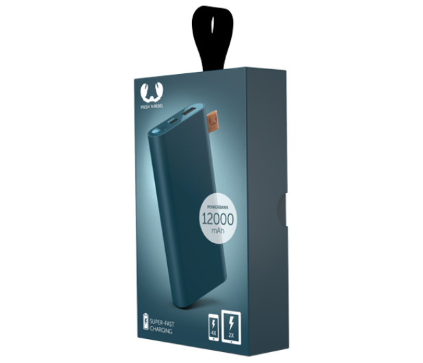 Fresh N Rebel Power Bank 12000 mAh (USB-C, Petrol Blue) - 545700 - zdjęcie 2