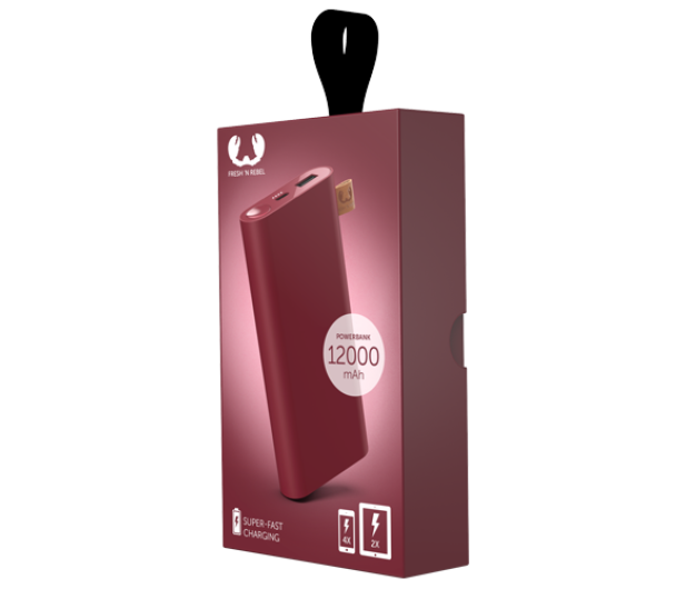 Fresh N Rebel Power Bank 12000 mAh (USB-C, Ruby Red) - 545701 - zdjęcie 2