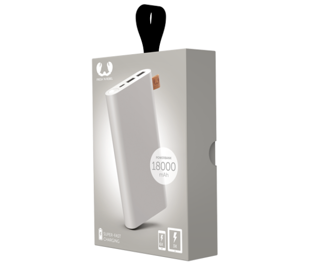 Fresh N Rebel Power Bank 18000 mAh (USB-C, Ice Grey) - 545703 - zdjęcie 2
