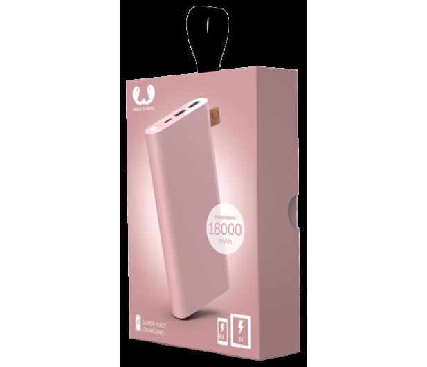 Fresh N Rebel Power Bank 18000 mAh (USB-C, Dusty Pink) - 545704 - zdjęcie 2