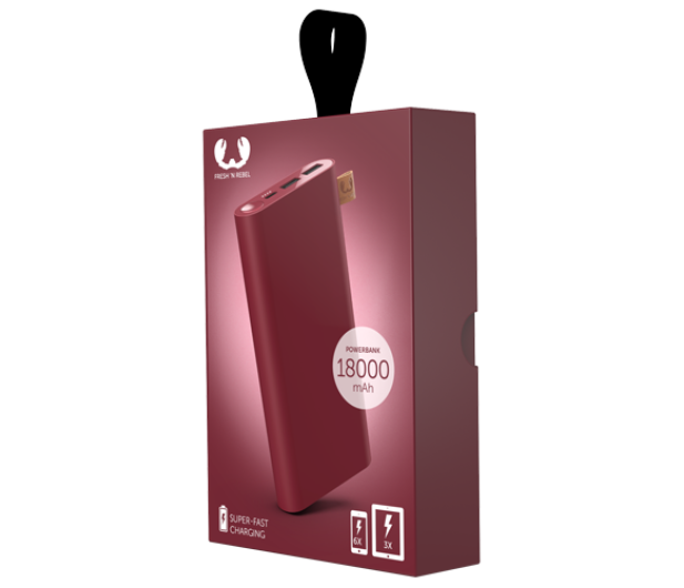 Fresh N Rebel Power Bank 18000 mAh (USB-C, Ruby Red) - 545707 - zdjęcie 2