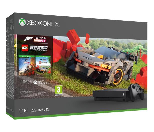 Microsoft Xbox One X 1TB + Forza Horizon 4 + LEGO DLC - 544764 - zdjęcie