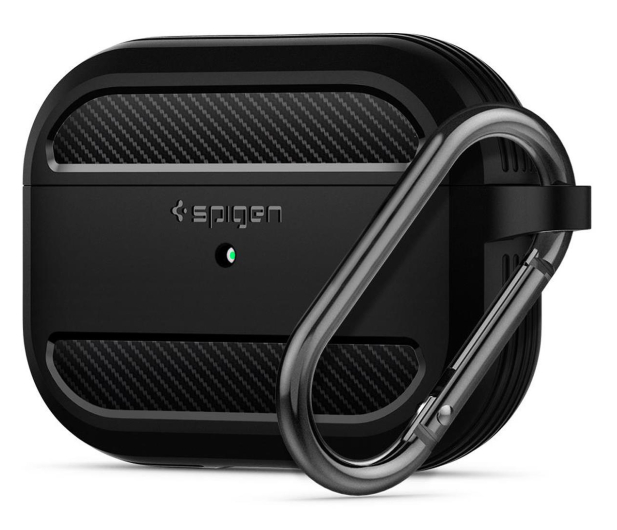 Spigen Rugged Armor do Apple AirPods Pro czarne  - 541352 - zdjęcie