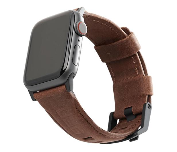 UAG Pasek Skórzany do Apple Watch brązowy - 540794 - zdjęcie