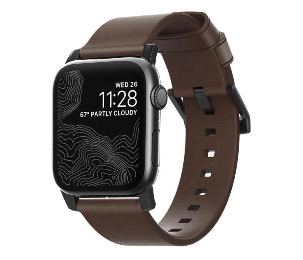 Nomad Pasek Skórzany do Apple Watch brązowo-czarny - 540745 - zdjęcie