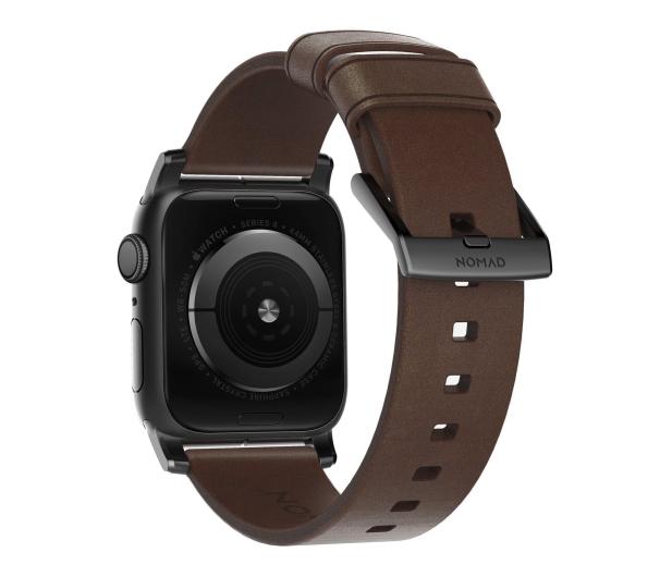 Nomad Pasek Skórzany do Apple Watch brązowo-czarny - 540745 - zdjęcie 2