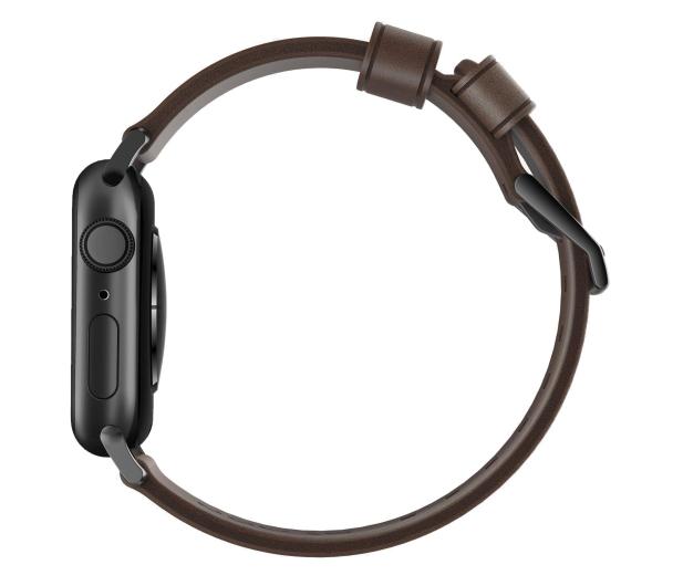 Nomad Pasek Skórzany do Apple Watch brązowo-czarny - 540745 - zdjęcie 3