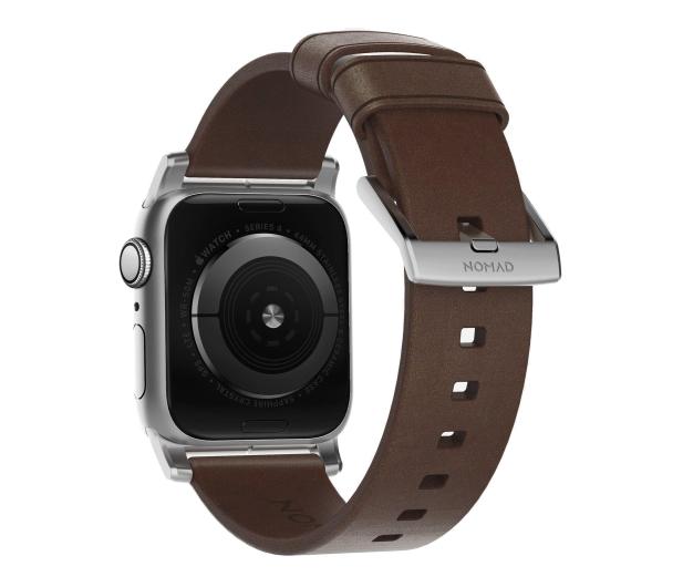 Nomad Pasek Skórzany do Apple Watch brązowo-srebrny - 540750 - zdjęcie 2