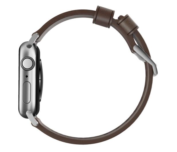 Nomad Pasek Skórzany do Apple Watch brązowo-srebrny - 540750 - zdjęcie 3