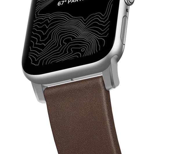 Nomad Pasek Skórzany do Apple Watch brązowo-srebrny - 540750 - zdjęcie 5