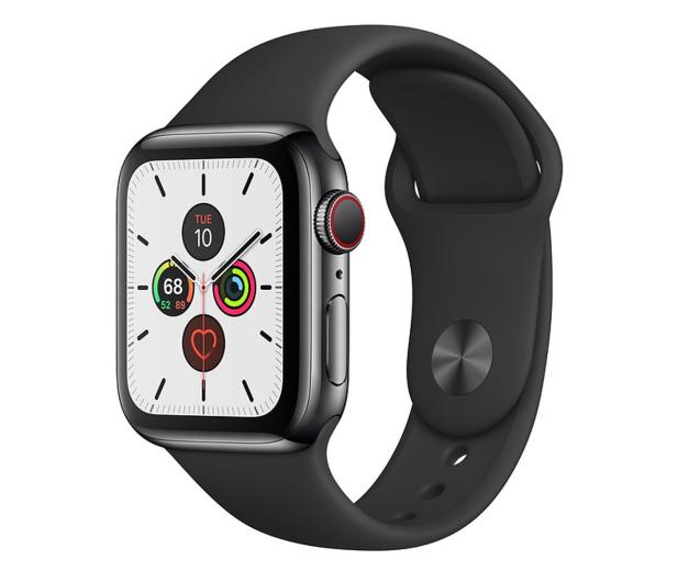 Apple Watch 5 40/Space Gray Steel/Black Sport LTE - 547092 - zdjęcie