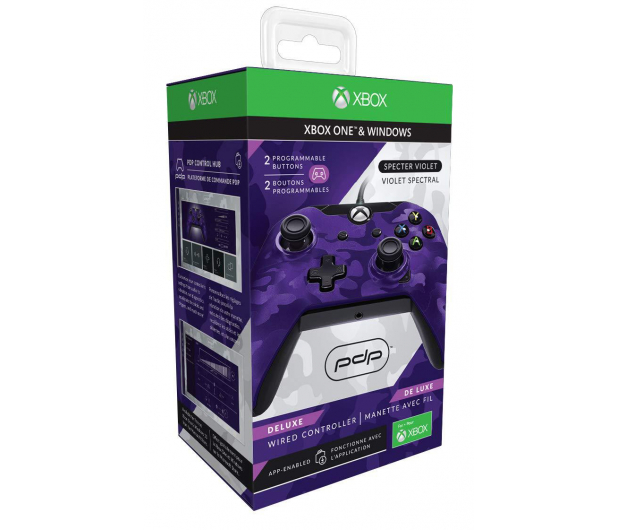 PDP Xbox One Controller - Delux Camo Purple (przew.) - 547231 - zdjęcie 4