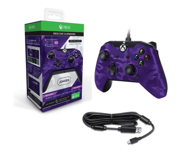 PDP Xbox One Controller - Delux Camo Purple (przew.) - 547231 - zdjęcie 3