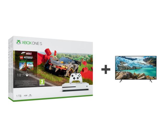 Microsoft Xbox One S + Forza Horizon 4 + LEGO DLC + TV - 542935 - zdjęcie