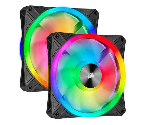 Corsair iCUE QL140 RGB PWM 140 mm 2pack + Lighting Node  - 529999 - zdjęcie