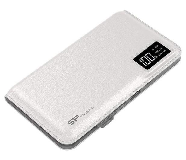 Silicon Power Power Bank 10000mAh, 2.1A (biały) - 543239 - zdjęcie 2