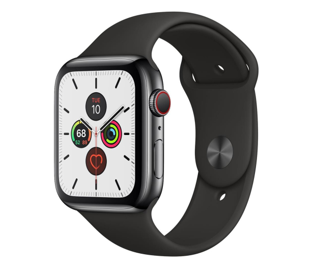 Apple Watch 5 44/Space Grey Steel/Black Sport LTE - 543271 - zdjęcie