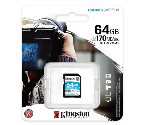 Kingston 64GB Canvas Go! Plus 170MB/70MB (odczyt/zapis) - 550469 - zdjęcie 3