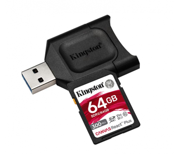 Kingston 64GB Canvas React Plus 300MB/260MB/s - 550462 - zdjęcie 2