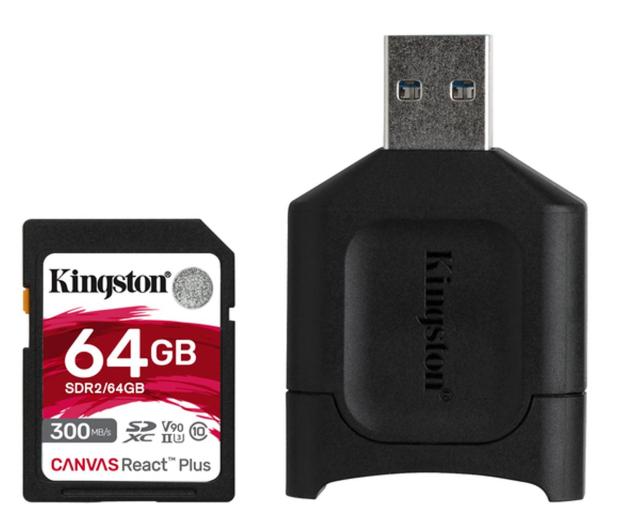 Kingston 64GB Canvas React Plus 300MB/260MB/s - 550462 - zdjęcie