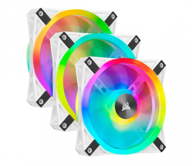 Corsair iCUE QL120 RGB 120mm PWM trójpak - 550317 - zdjęcie