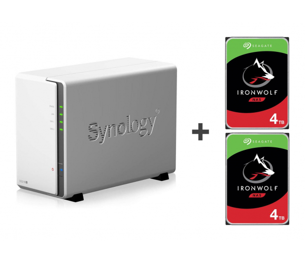 Synology DS218j 8TB (2xHDD, 2x1.3GHz, 512MB,2xUSB,1xLAN)  - 421900 - zdjęcie