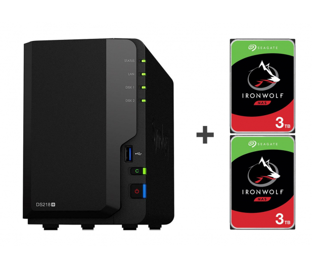 Synology DS218+ 6TB (2xHDD, 2x2-2.5GHz, 2GB, 3xUSB, 1xLAN)  - 463378 - zdjęcie
