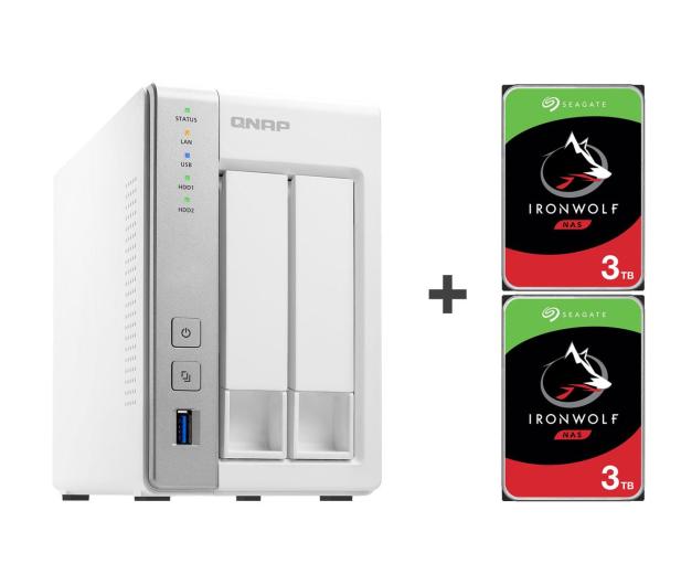 QNAP TS-231P 6TB (2xHDD, 2x1.7GHz, 1GB, 3xUSB, 2xLAN) - 421674 - zdjęcie