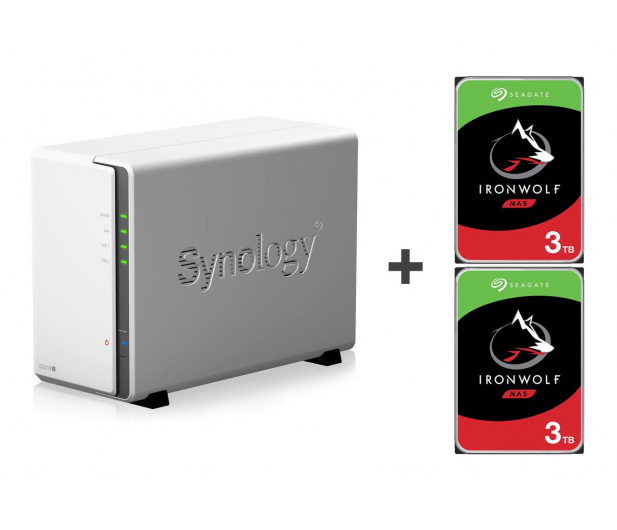 Synology DS218j 6TB (2xHDD, 2x1.3GHz, 512MB,2xUSB,1xLAN)  - 421897 - zdjęcie