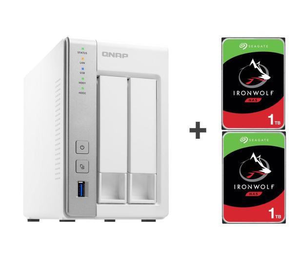 QNAP TS-231P 2TB (2xHDD, 2x1.7GHz, 1GB, 3xUSB, 2xLAN) - 421658 - zdjęcie