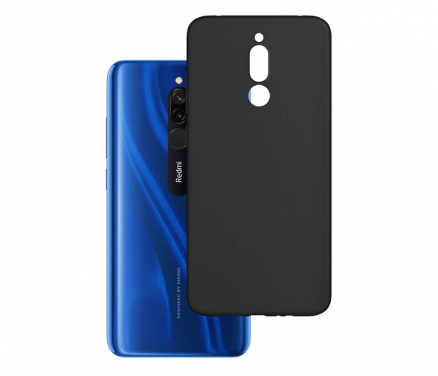 3mk Matt Case do Xiaomi Redmi 8 czarny  - 551005 - zdjęcie