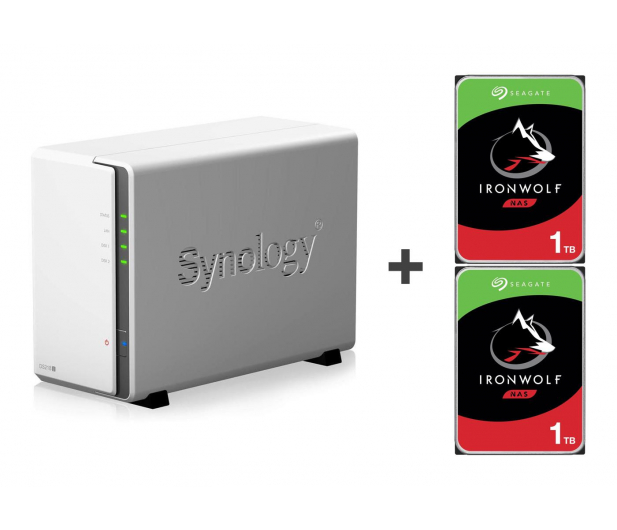 Synology DS218j 2TB (2xHDD, 2x1.3GHz, 512MB,2xUSB,1xLAN) - 421692 - zdjęcie